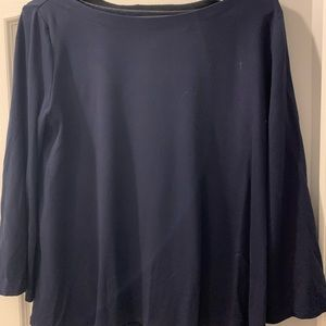 Navy 3/4 length sleeve top from The Loft.